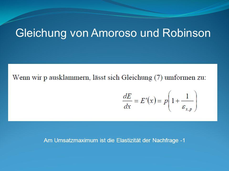 Gleichung von Amoroso und Robinson