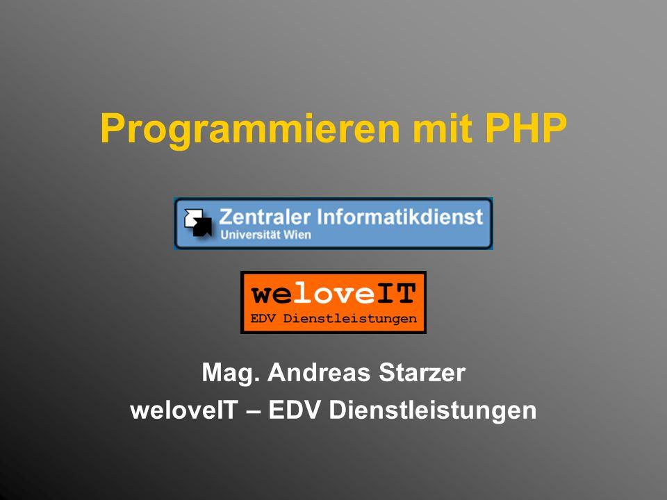 Mag. Andreas Starzer weloveIT – EDV Dienstleistungen