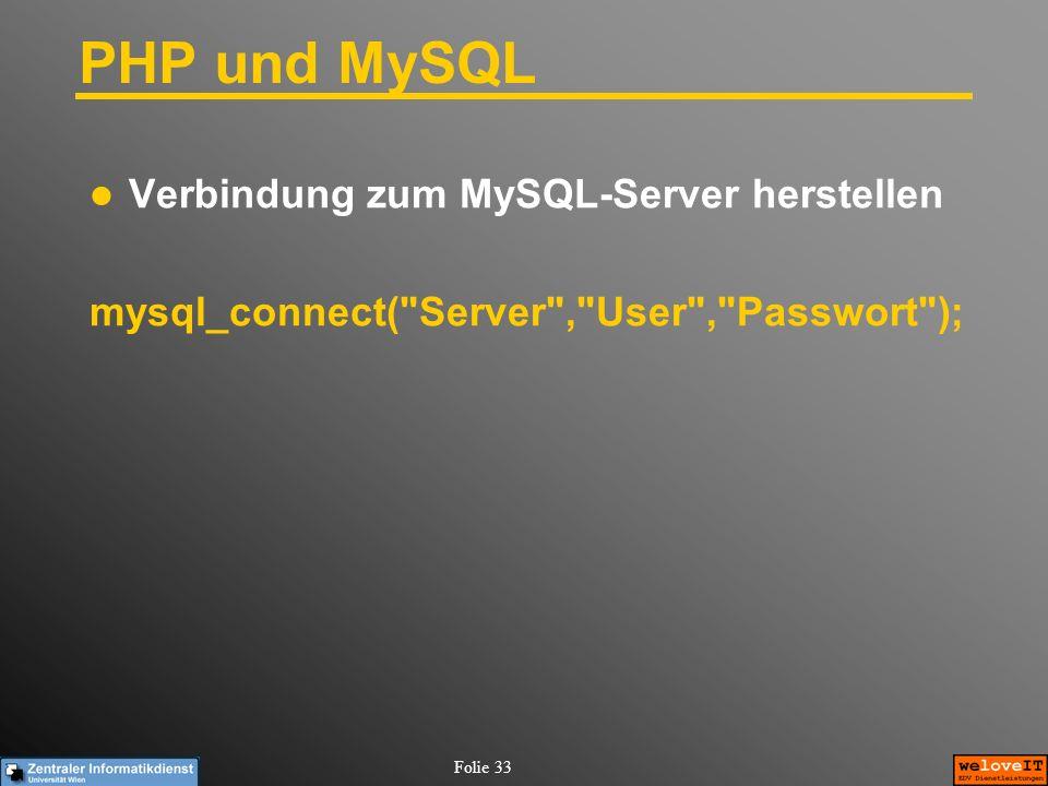 PHP und MySQL Verbindung zum MySQL-Server herstellen