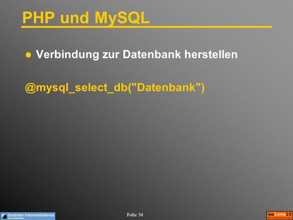 PHP und MySQL Verbindung zur Datenbank herstellen