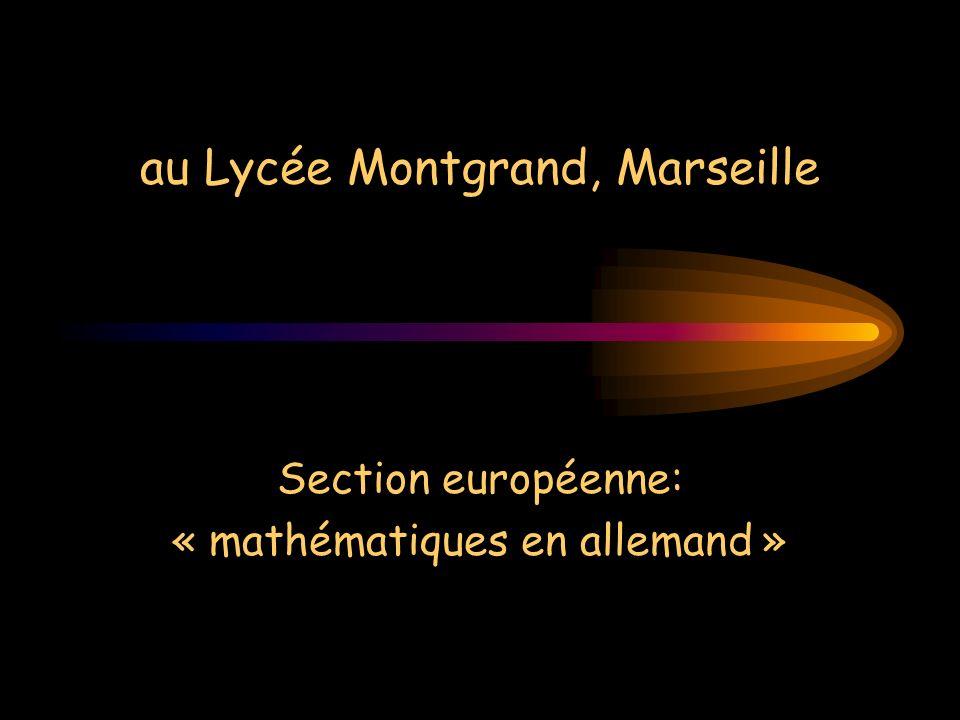 au Lycée Montgrand, Marseille