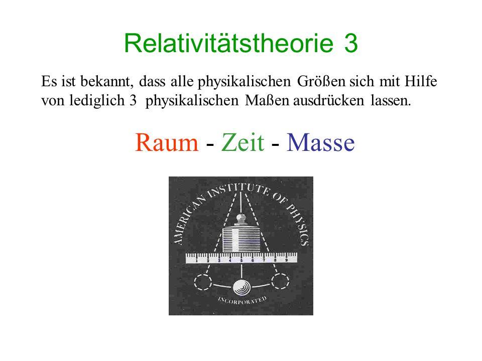 Relativitätstheorie 3 Raum - Zeit - Masse