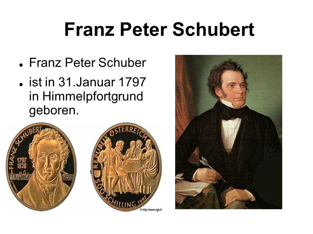 Franz Peter Schubert Franz Peter Schuber