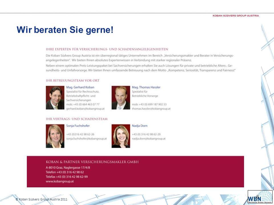 Wir beraten Sie gerne! © Koban Südvers Group Austria 2011
