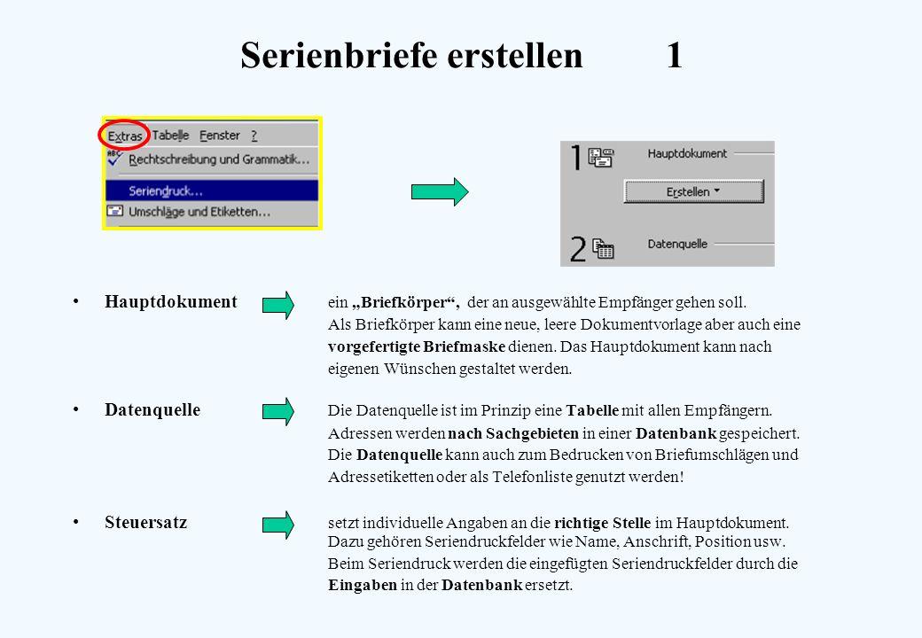Serienbriefe erstellen 1