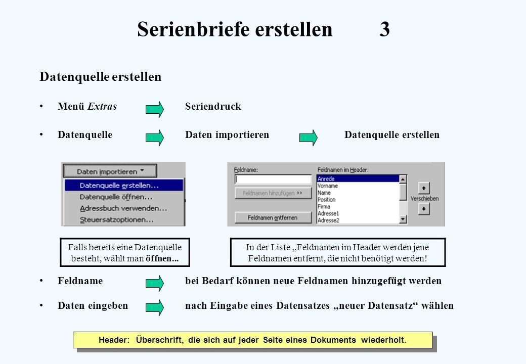 Serienbriefe erstellen 3