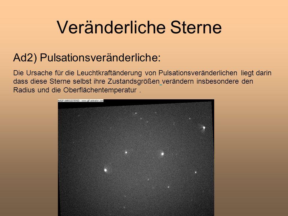 Veränderliche Sterne Ad2) Pulsationsveränderliche: