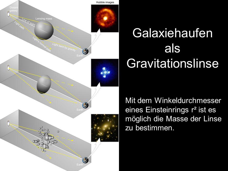Galaxiehaufen als Gravitationslinse