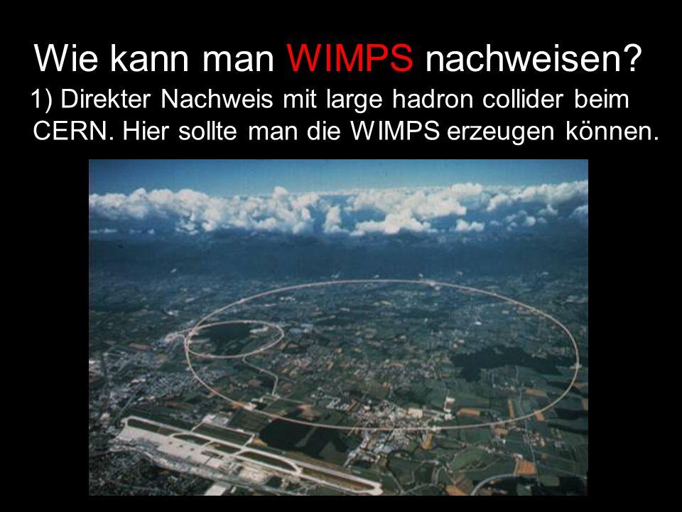 Wie kann man WIMPS nachweisen