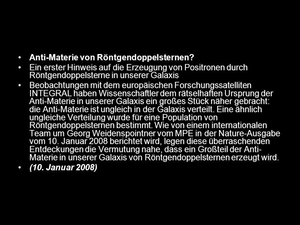 Anti-Materie von Röntgendoppelsternen