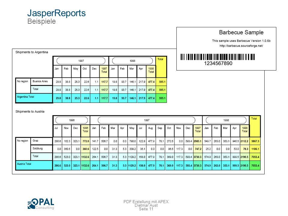 JasperReports Beispiele