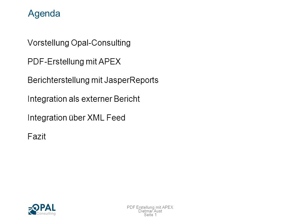 Vorstellung Opal-Consulting