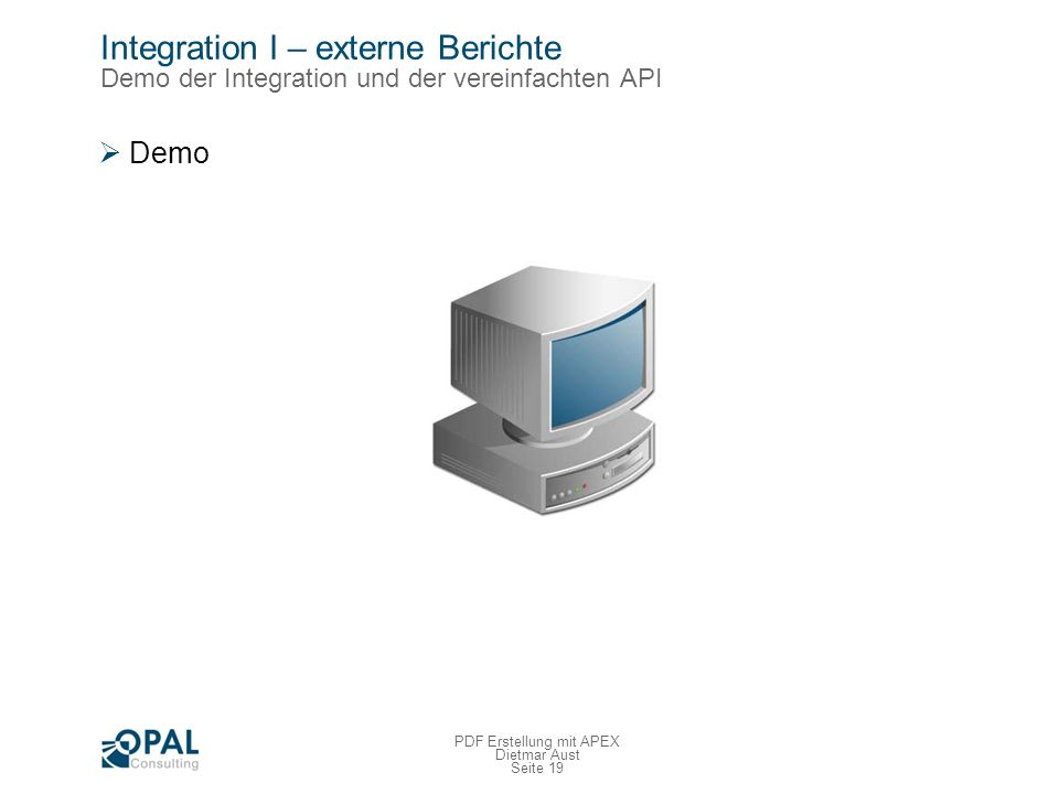 Integration II – XML Feed Übersicht