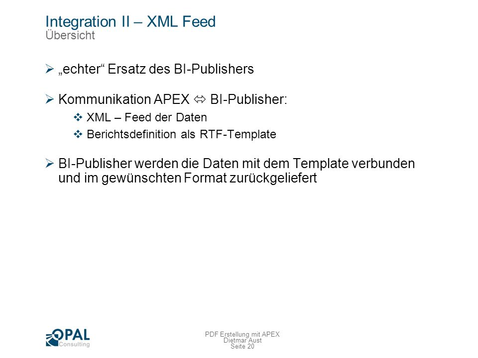 Integration II – XML Feed Umsetzung