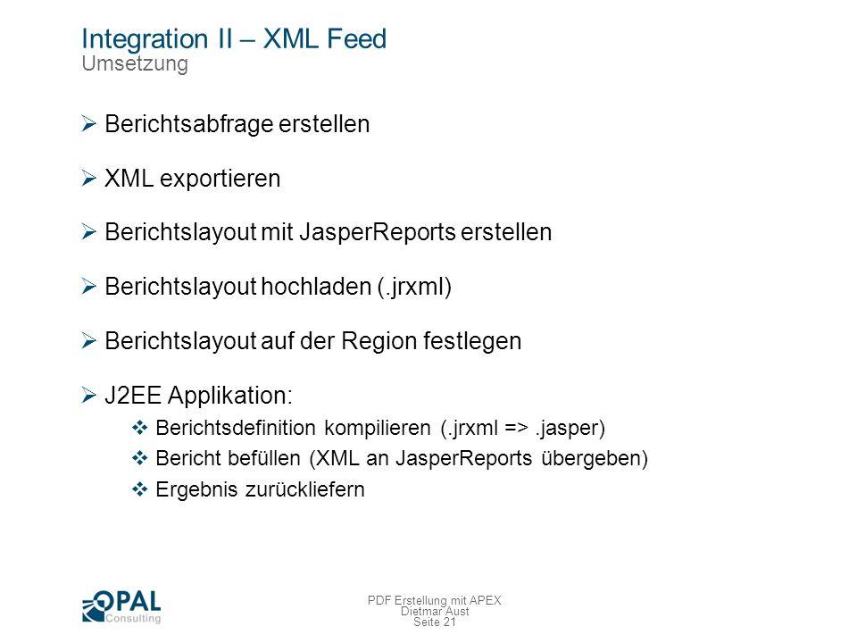 Integration II – XML Feed Demo