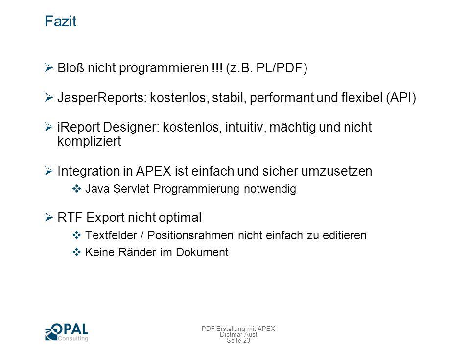 APEX Training - Ankündigung