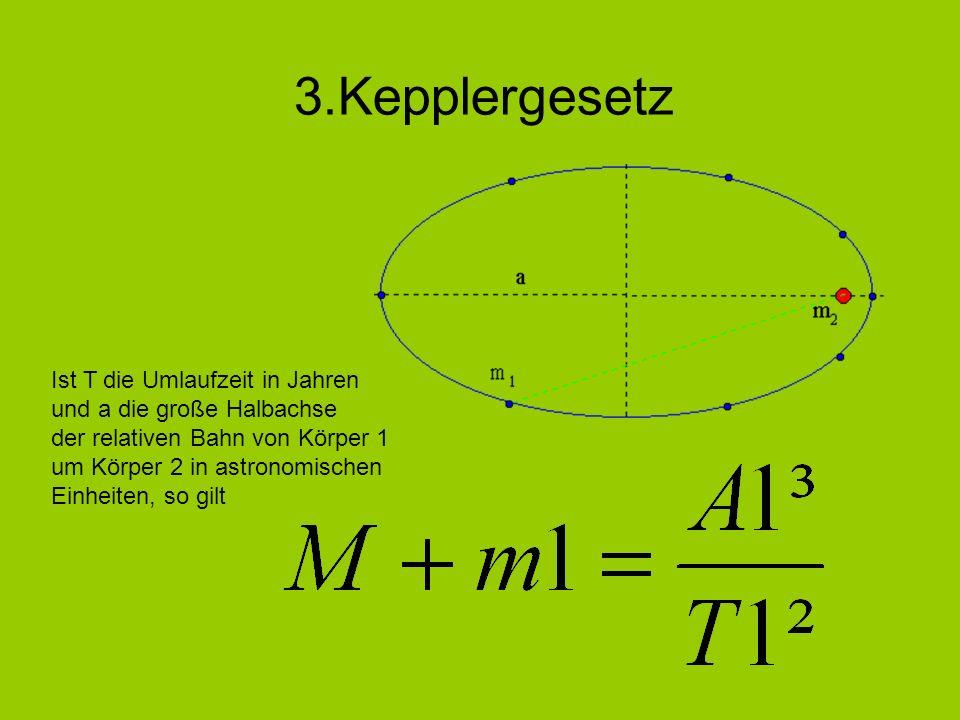 3.Kepplergesetz Ist T die Umlaufzeit in Jahren