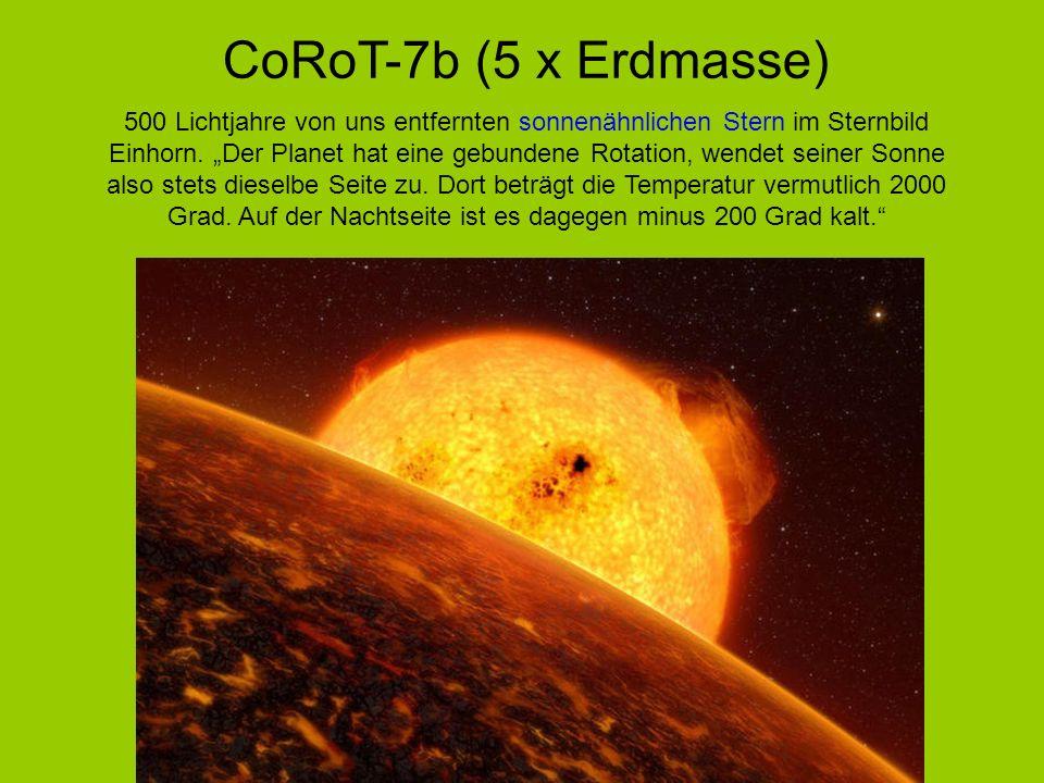 CoRoT-7b (5 x Erdmasse)