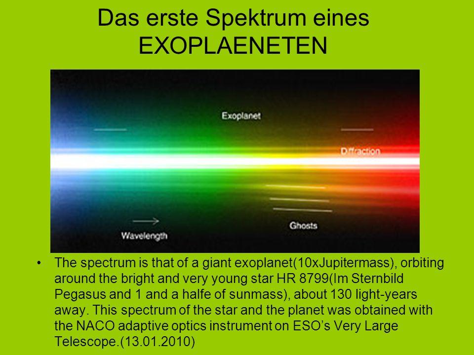 Das erste Spektrum eines EXOPLAENETEN