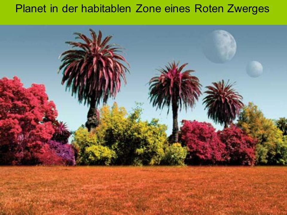 Planet in der habitablen Zone eines Roten Zwerges