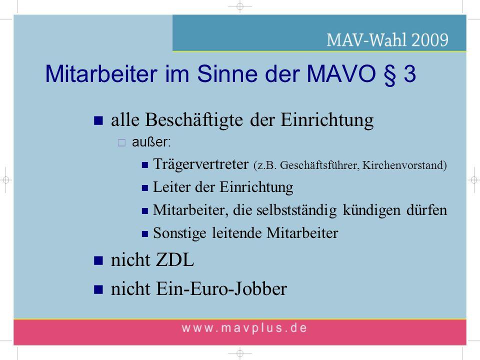 Mitarbeiter im Sinne der MAVO § 3