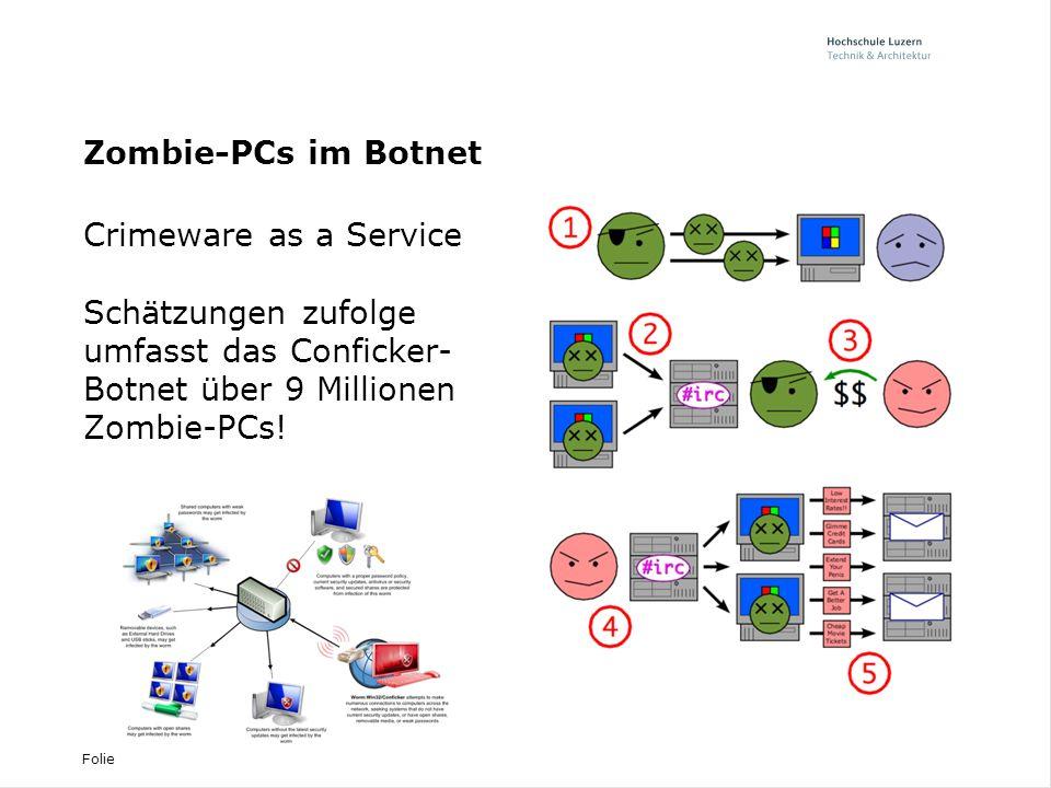 Zombie-PCs im Botnet Crimeware as a Service.