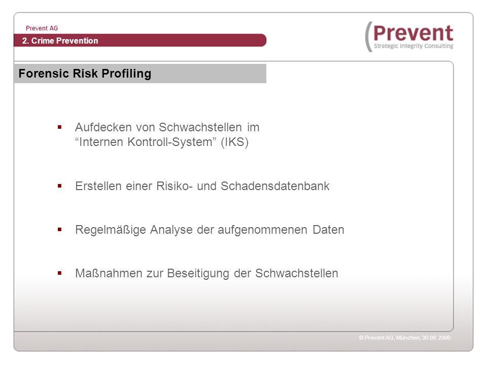 Forensic Risk Profiling