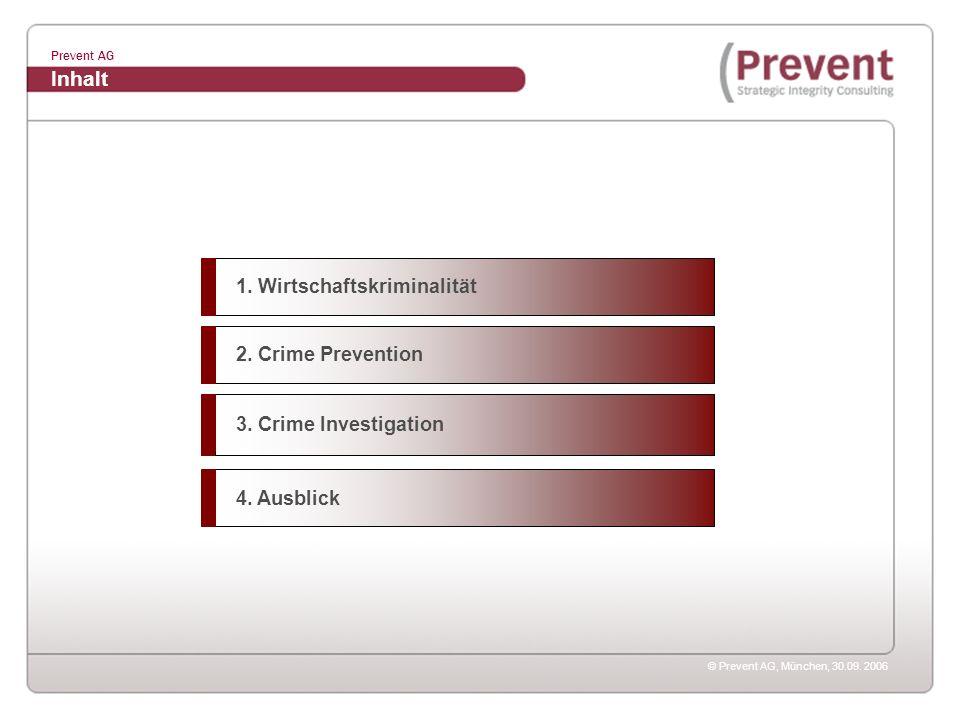 Inhalt 1. Wirtschaftskriminalität 2. Crime Prevention