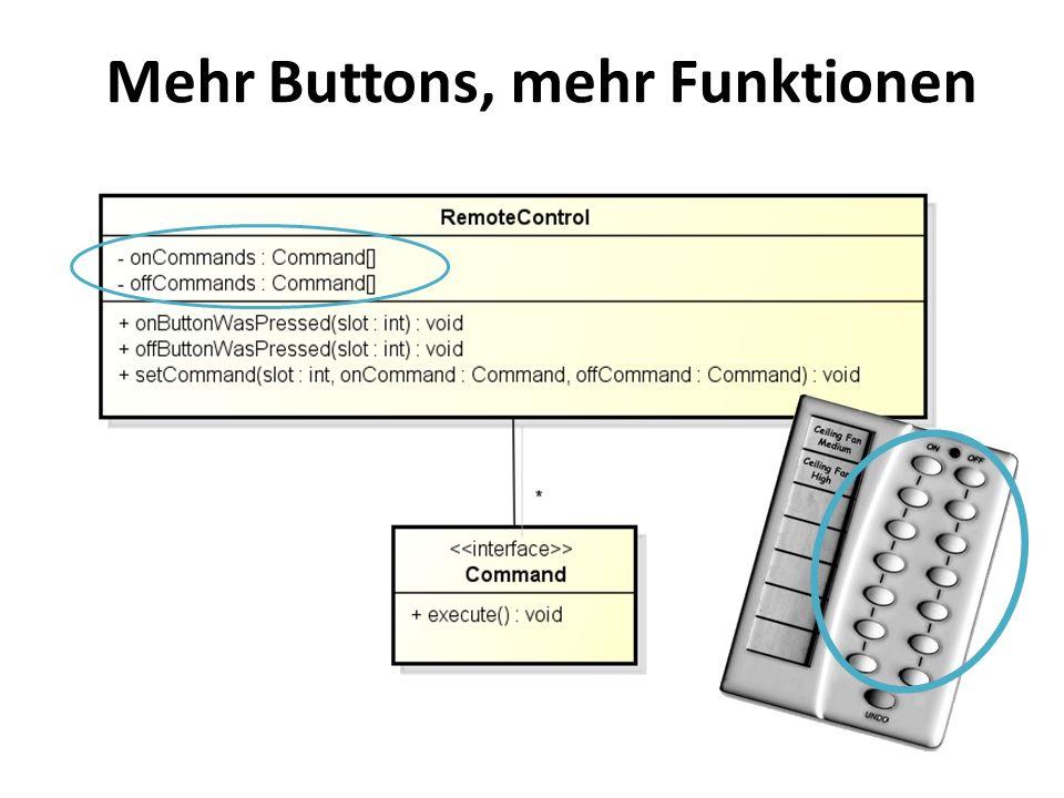 Mehr Buttons, mehr Funktionen