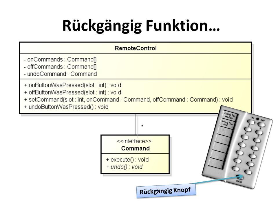Rückgängig Funktion… Rückgängig Knopf