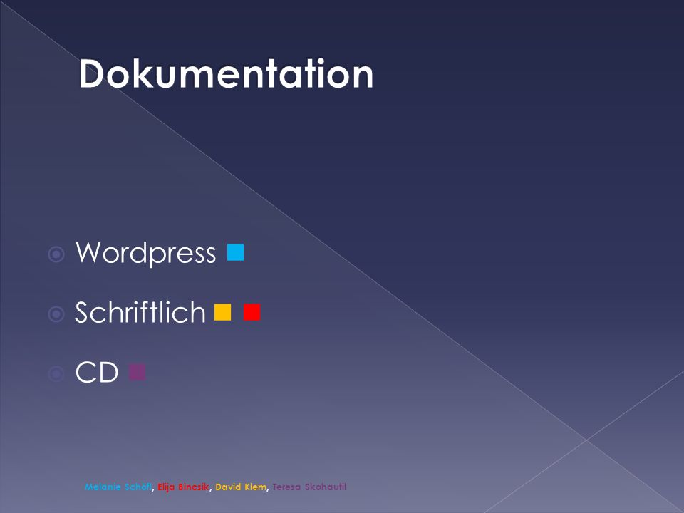 Dokumentation Wordpress  Schriftlich   CD 