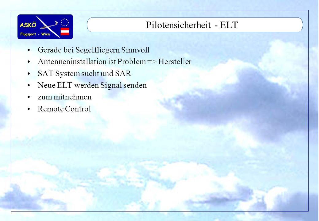 Pilotensicherheit - ELT
