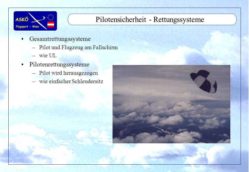 Pilotensicherheit - Rettungssysteme