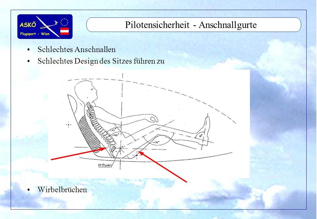 Pilotensicherheit - Anschnallgurte