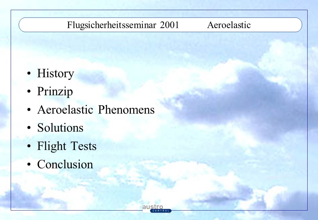 Flugsicherheitsseminar 2001 Aeroelastic