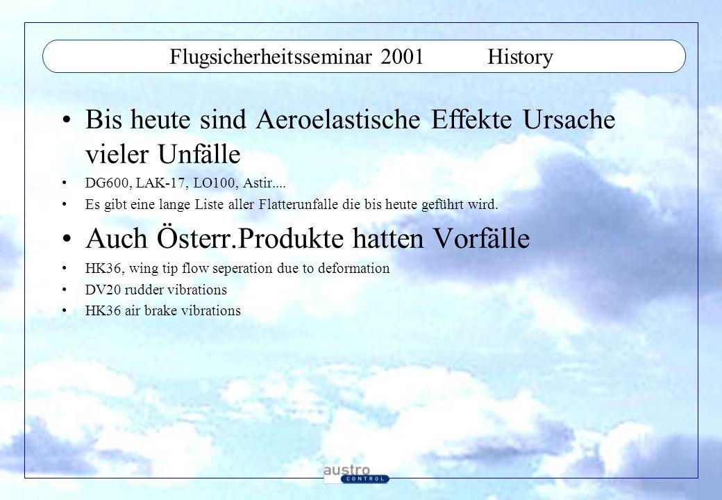 Flugsicherheitsseminar 2001 History