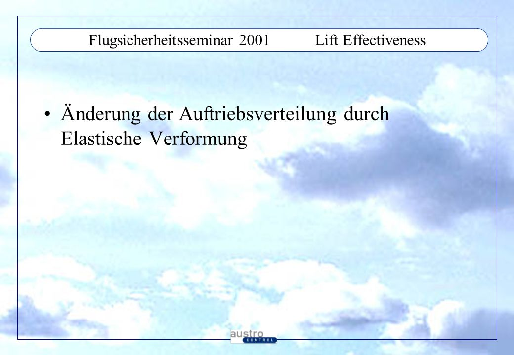 Flugsicherheitsseminar 2001 Lift Effectiveness