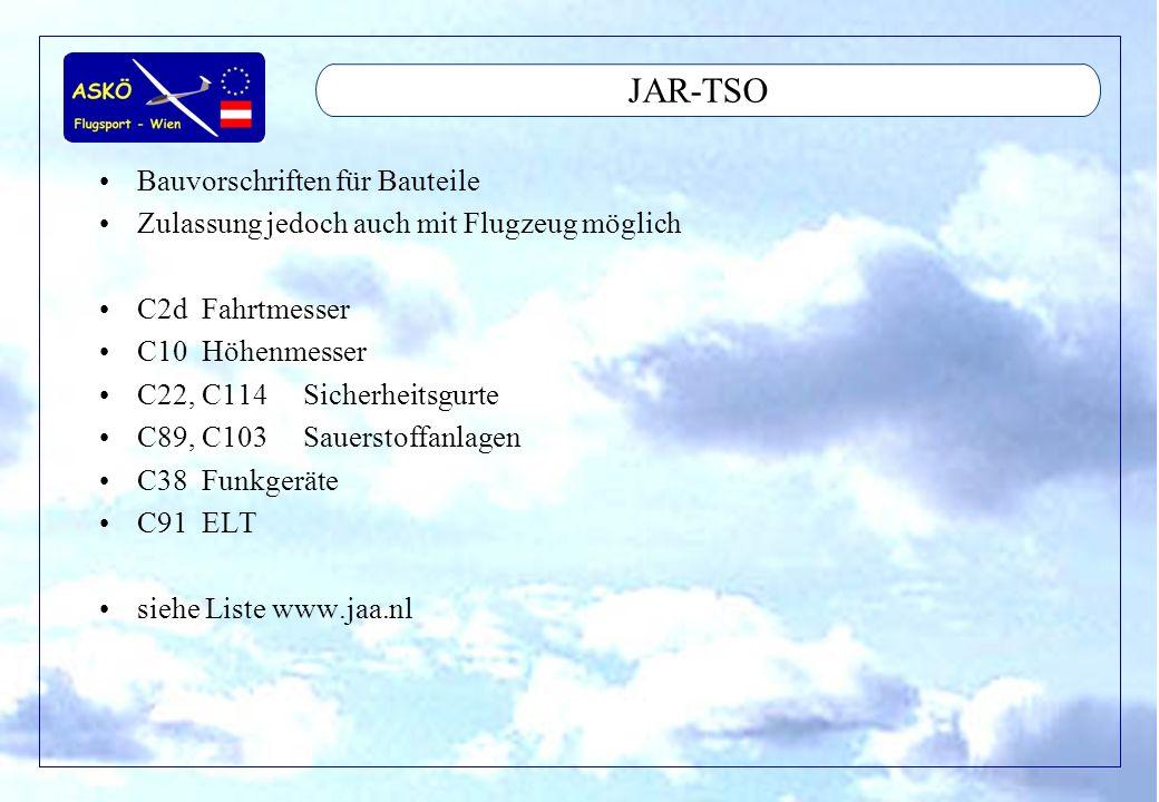 JAR-TSO Bauvorschriften für Bauteile