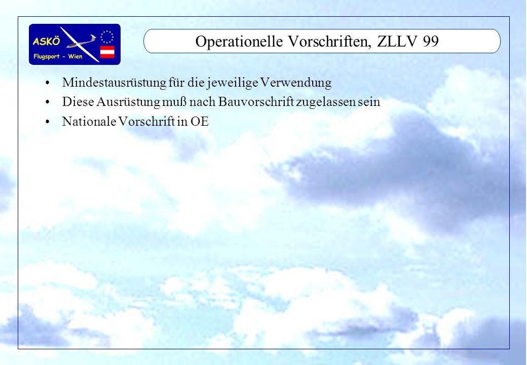 Operationelle Vorschriften, ZLLV 99