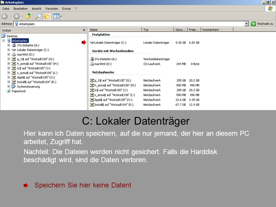 C: Lokaler Datenträger