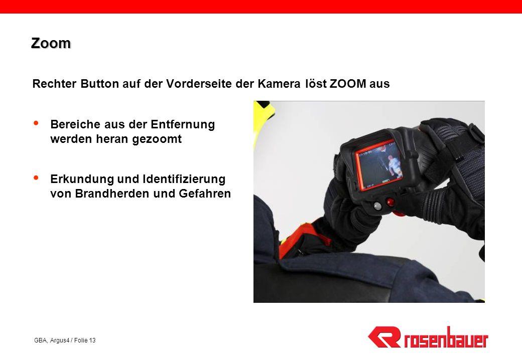 Zoom Rechter Button auf der Vorderseite der Kamera löst ZOOM aus