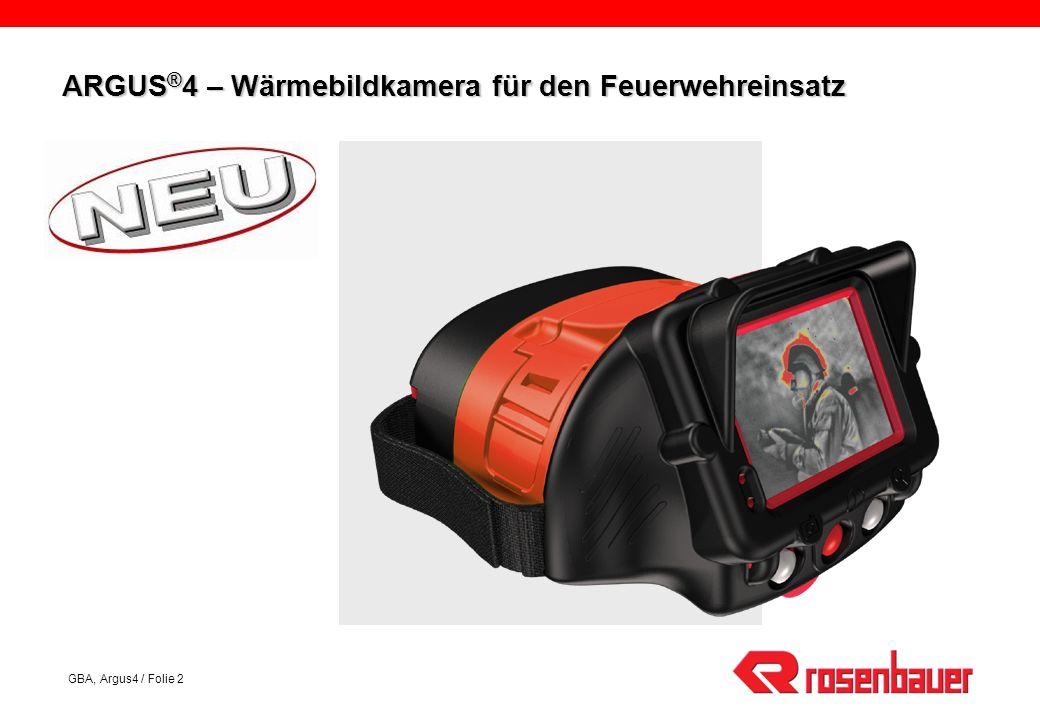 ARGUS®4 – Wärmebildkamera für den Feuerwehreinsatz