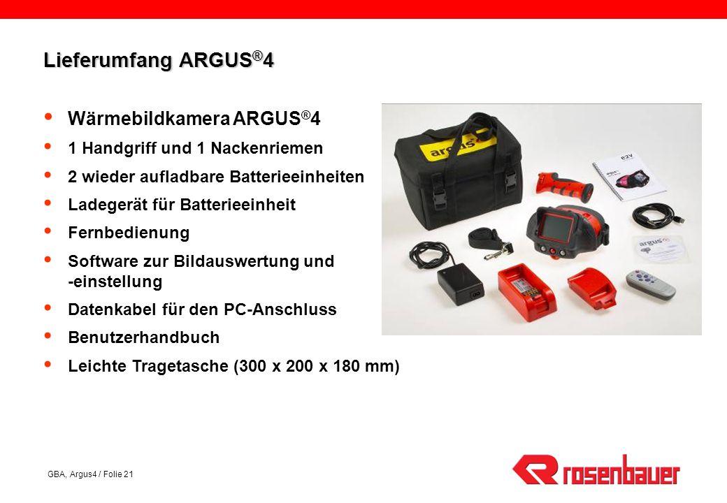 Lieferumfang ARGUS®4 Wärmebildkamera ARGUS®4