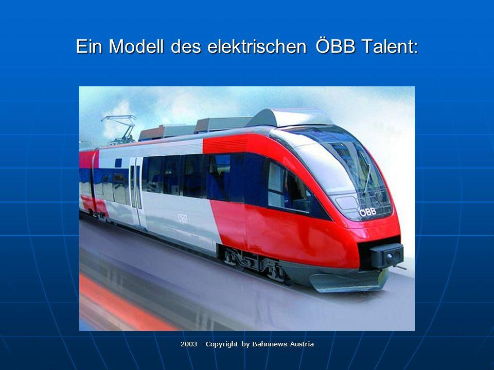 Ein Modell des elektrischen ÖBB Talent: