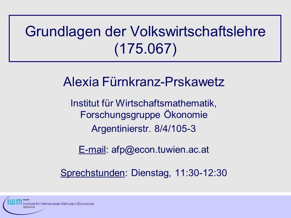 Grundlagen der Volkswirtschaftslehre (175.067)