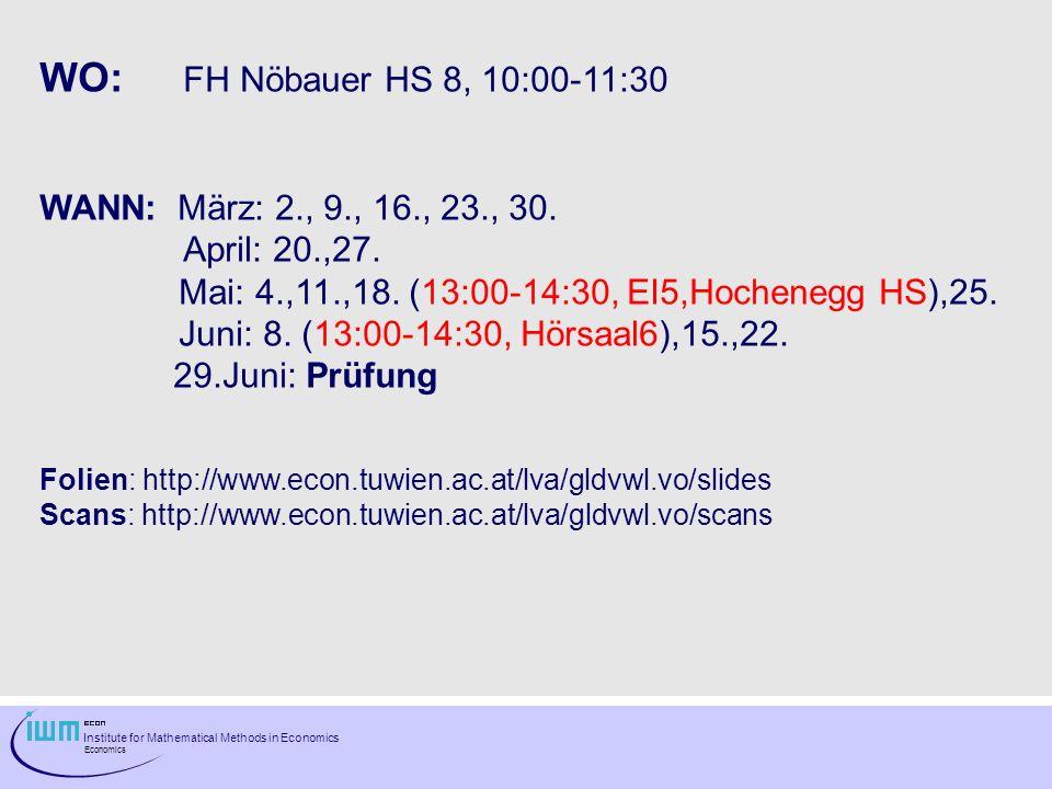 WO: FH Nöbauer HS 8, 10:00-11:30 WANN: März: 2., 9., 16., 23., 30.