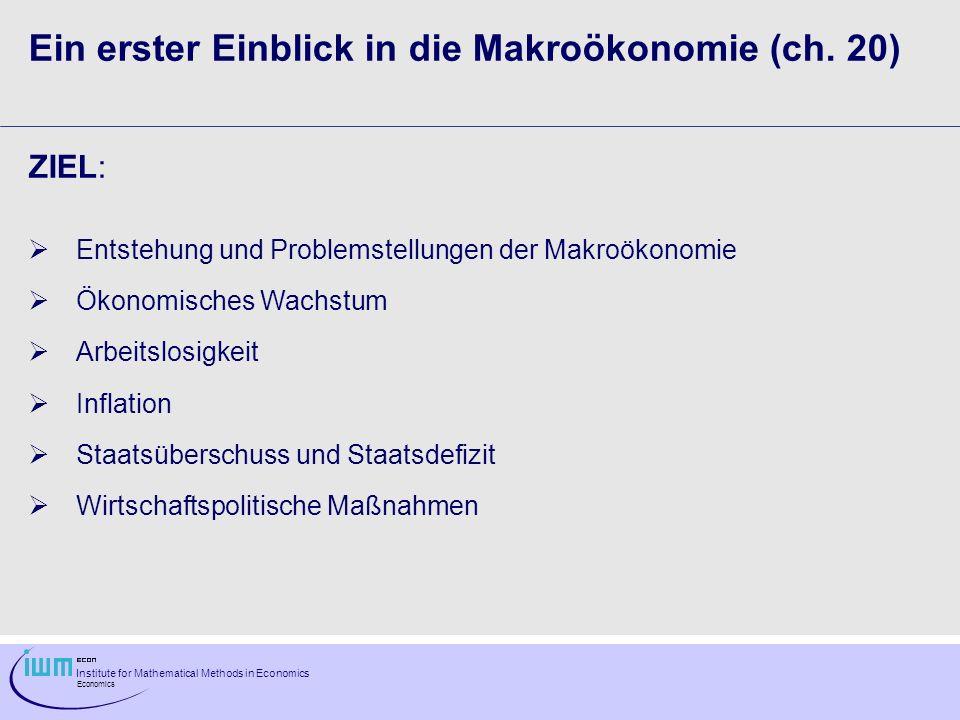 Ein erster Einblick in die Makroökonomie (ch. 20)