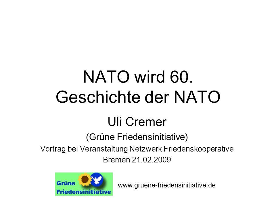 NATO wird 60. Geschichte der NATO