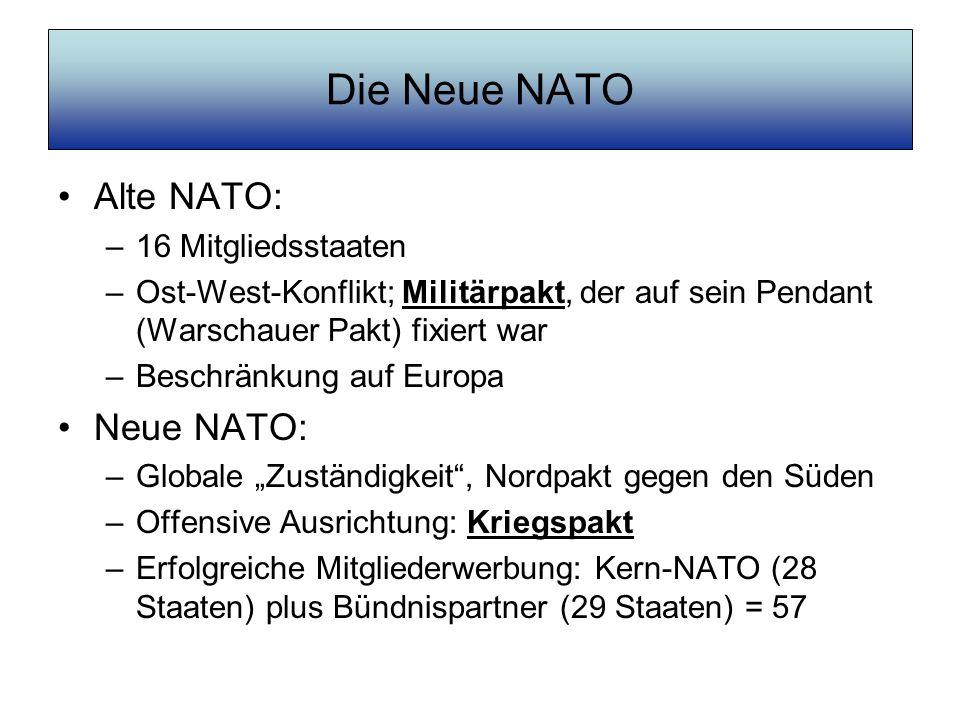 Die Neue NATO Alte NATO: Neue NATO: 16 Mitgliedsstaaten