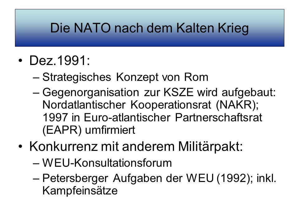 Die NATO nach dem Kalten Krieg